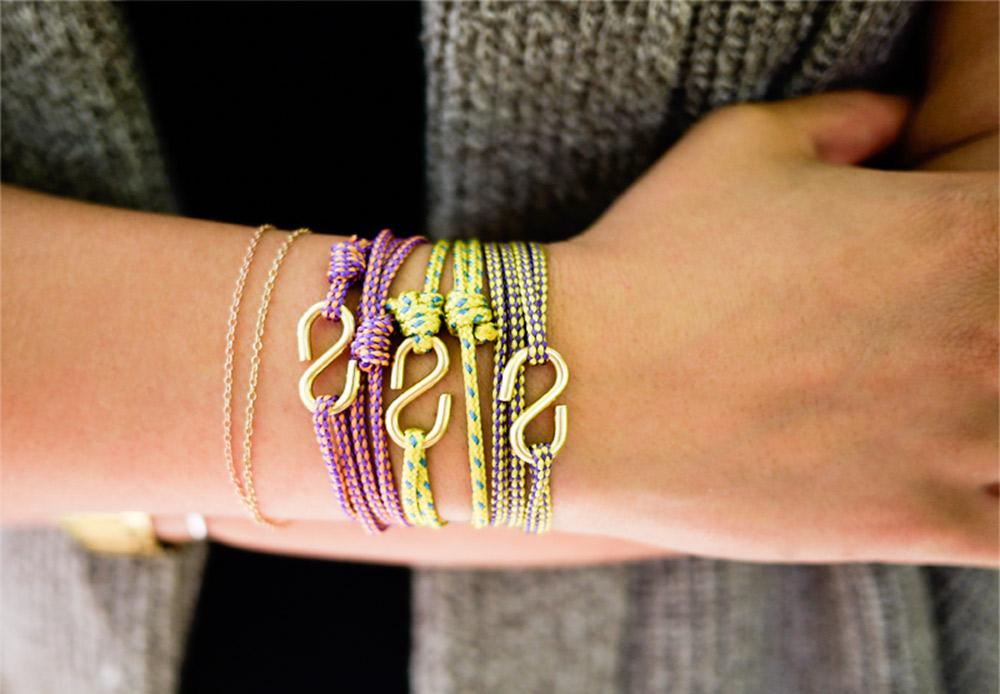 Cách làm vòng đeo tay HANDMADE bằng dây thừng móc cá tính