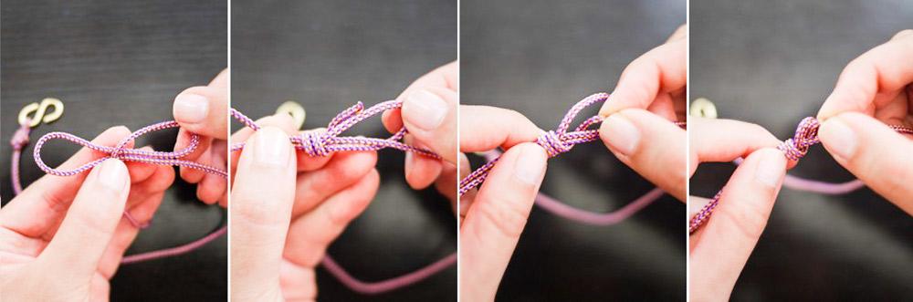 Cách làm vòng đeo tay HANDMADE bằng dây thừng móc cá tính 5
