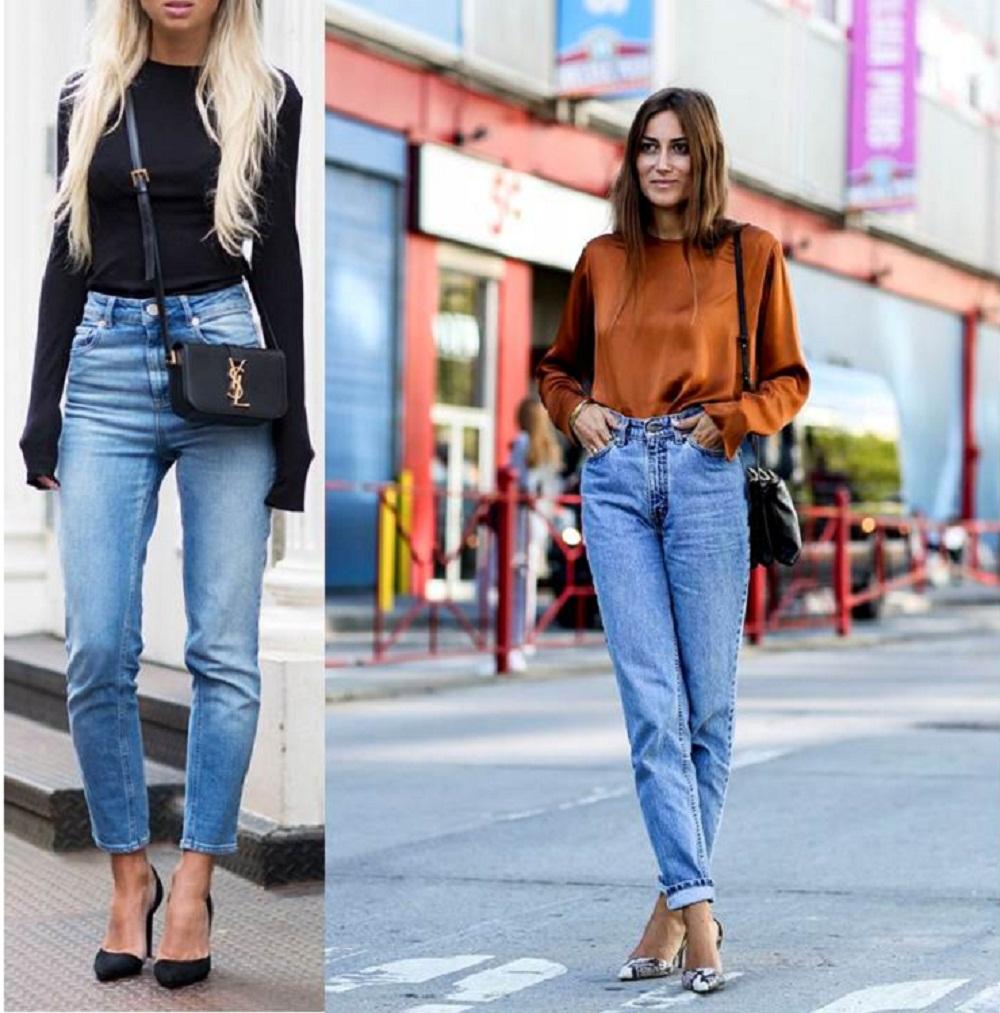 Cách phối với quần jean đơn giản